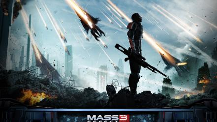 3 commander shepard electronic arts armored suit wallpaper