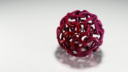 Dark Red 3D Ball Wallpaper