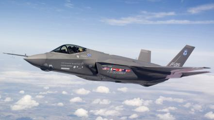 F35 Flying Wallpaper