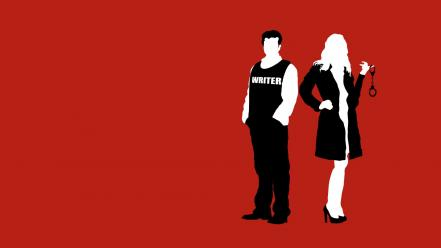 Minimalistic funny castle tv series kate beckett wallpaper
