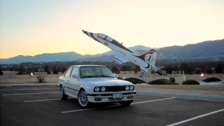 Sunset bmw air force e30 325ix wallpaper