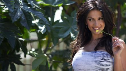 Women nature flowers denise milani wallpaper