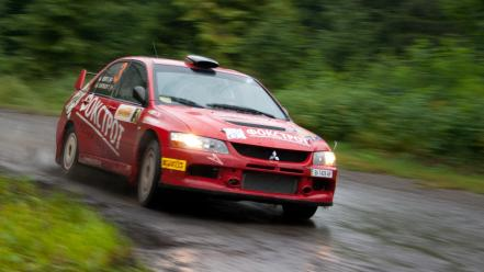 Mitsubishi lancer evolution ix rally cars vehicles wallpaper