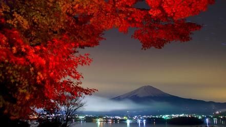 Mount fuji landscapes mountains trees wallpaper