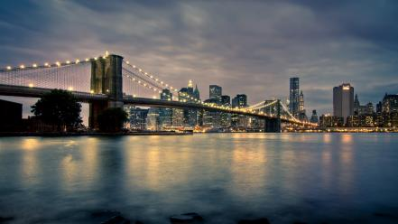River hdr photography manhattan new york city wallpaper