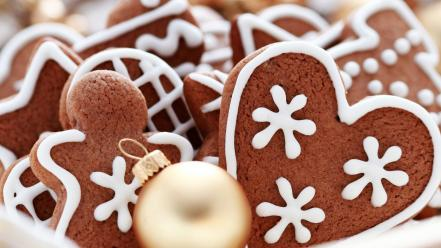 Christmas cookies gingerbread man wallpaper