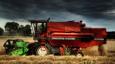 Deutzfahr combine harvester farm harvest wallpaper