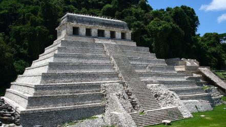 Palenque ancient old pyramids ruins Wallpaper