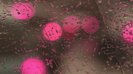 Condensation pink rain on glass water drops wallpaper