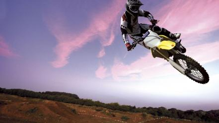 Crazy motocross motorbikes wallpaper