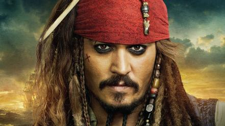 Depp pirates of the caribbean men movies Wallpaper