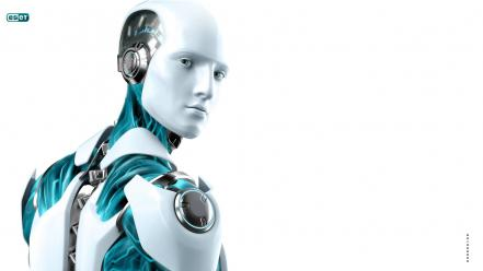 Eset futuristic machines robots science fiction wallpaper