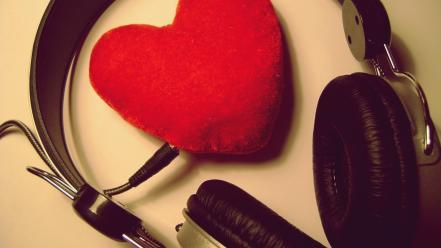 Headsets love music wallpaper