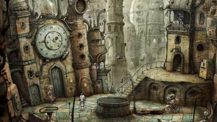 Machinarium digital art video games wallpaper