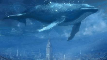 Animals artwork fantasy art futuristic underwater wallpaper