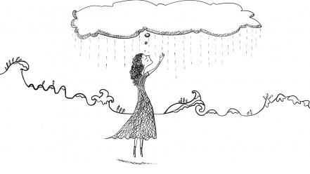 Black and white drawings imagination minimalistic rain wallpaper