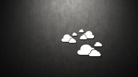 Clouds dark metallic minimalistic simple wallpaper