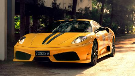 Ferrari f430 scuderia cars vehicles yellow wallpaper