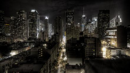 New york city lights cityscapes night wallpaper