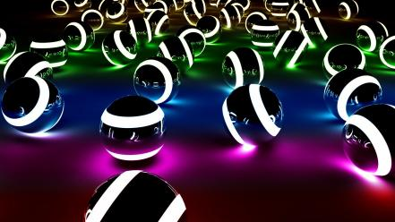 Tron legacy abstract balls colors spectrum wallpaper