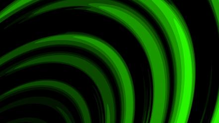 Abstract black green waves wallpaper