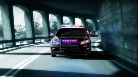 For speed the run cars police roads wallpaper