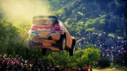 Ford fiesta wrc jumping rally cars wallpaper