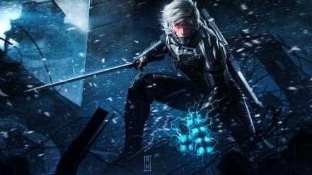 Metal gear solid rising artwork swords wallpaper