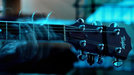 Taylor guitars blue macro music wallpaper