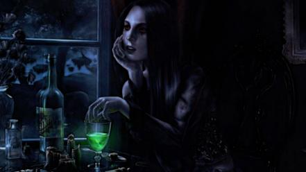 Absinthe dark wallpaper