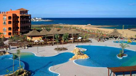 Architecture beaches fuerteventura golf resort Wallpaper