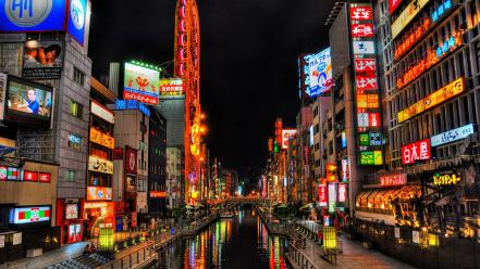 Asia hdr photography japan osaka architecture wallpaper