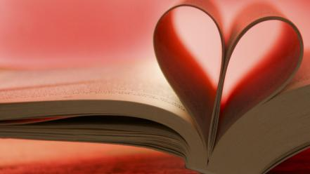 Books hearts pages wallpaper