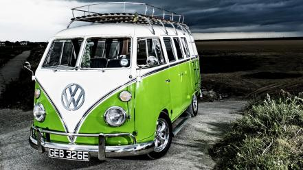 California volkswagen camper cars hippie wallpaper