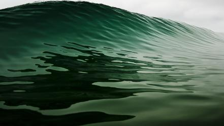 Glassy wave nature ocean water waves wallpaper