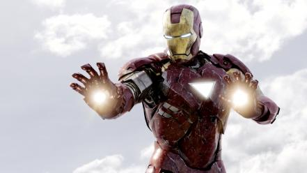 Iron man marvel the avengers movie skyscapes wallpaper