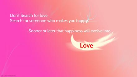 Light love pink quotes text wallpaper
