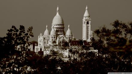 Montmartre paris sacré coeur cityscapes wallpaper