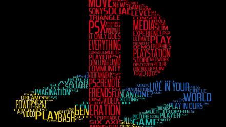Playstation sony font typography video games wallpaper