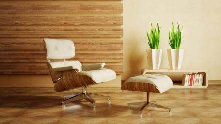 3d eames lounge chairs furniture interior wallpaper