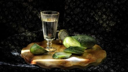 Alcohol cucumbers wallpaper