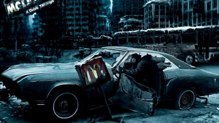 Apocalyptic automobiles cars vehicles wheels Wallpaper