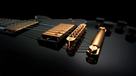 Black and gold guitars music wallpaper