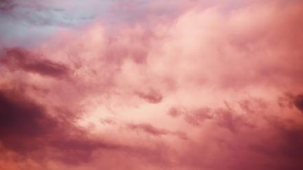 Clouds pink skyscapes wallpaper