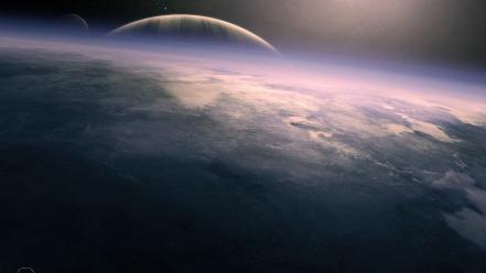 Deviantart outer space planets stars wallpaper