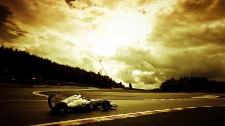 Formula one mercedesbenz nico rosberg sunset Wallpaper