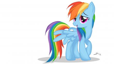 Friendship is magic rainbow dash drawings ponies wallpaper