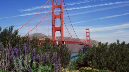 Golden gate bridge san francisco nature wallpaper