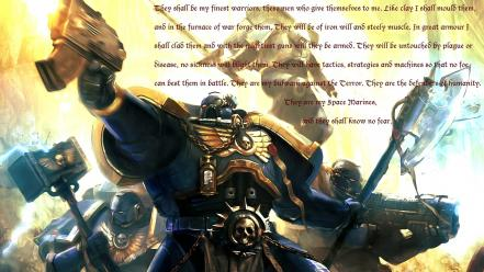 Guns quotes space marines text Wallpaper
