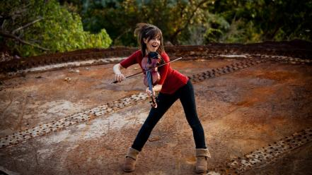 Lindsey stirling brunettes musicians violinist Wallpaper